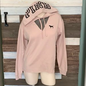 Victorias secret PINK blush hoodie XS